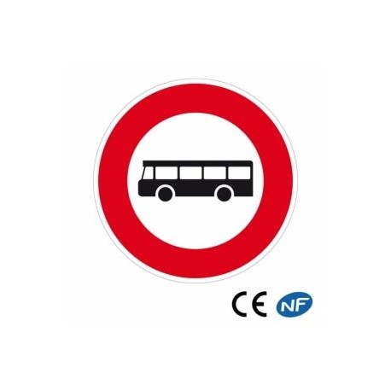 Panneau decirculation passage interdit aux bus et aux cars (B9f)