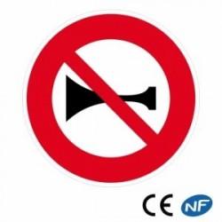 Panneau designalisation indiquant uneinterdiction deklaxonner (B16)