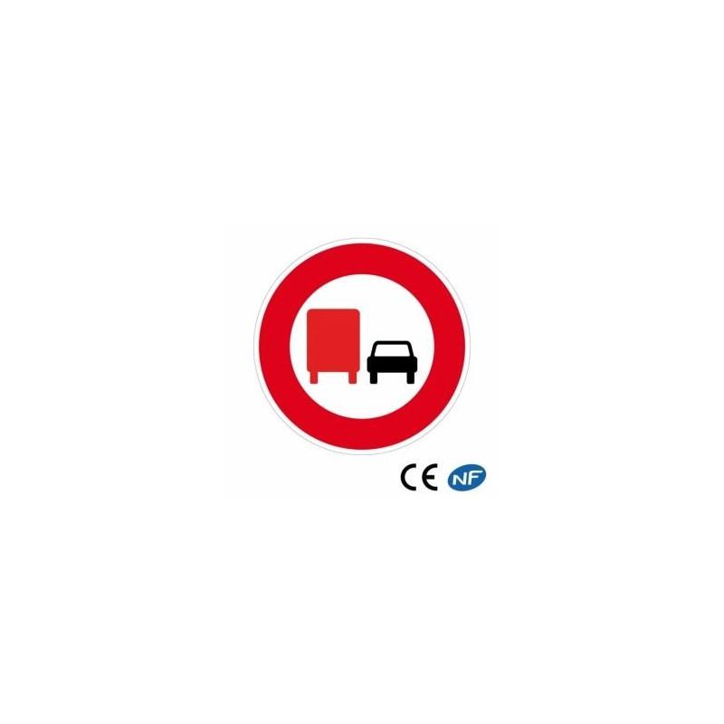 Panneau code de la route interdiction de dépasser B3a