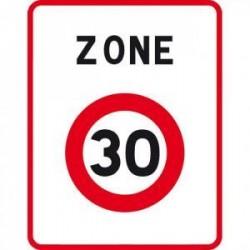 Panneau designalisation entrée d'une zone à30km/hB30