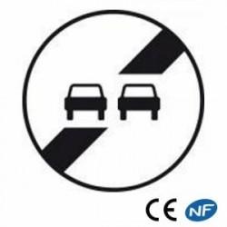 Panneau designalisation de fin d'interdiction dedépasser B34