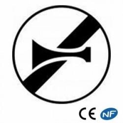 Panneau designalisation de fin d'interdiction deklaxonner B35