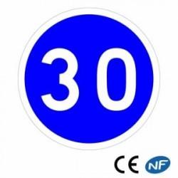 Panneau designalisation vitesse minimale obligatoire (B25)