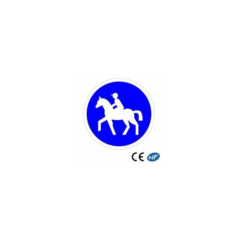Panneau de circulation chemin obligatoire pour les cavaliers