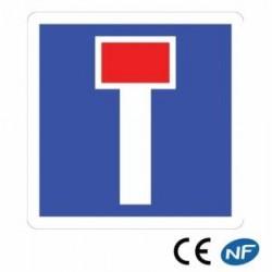 Panneau designalisation indiquant un chemin sans issue- impasse - C13a