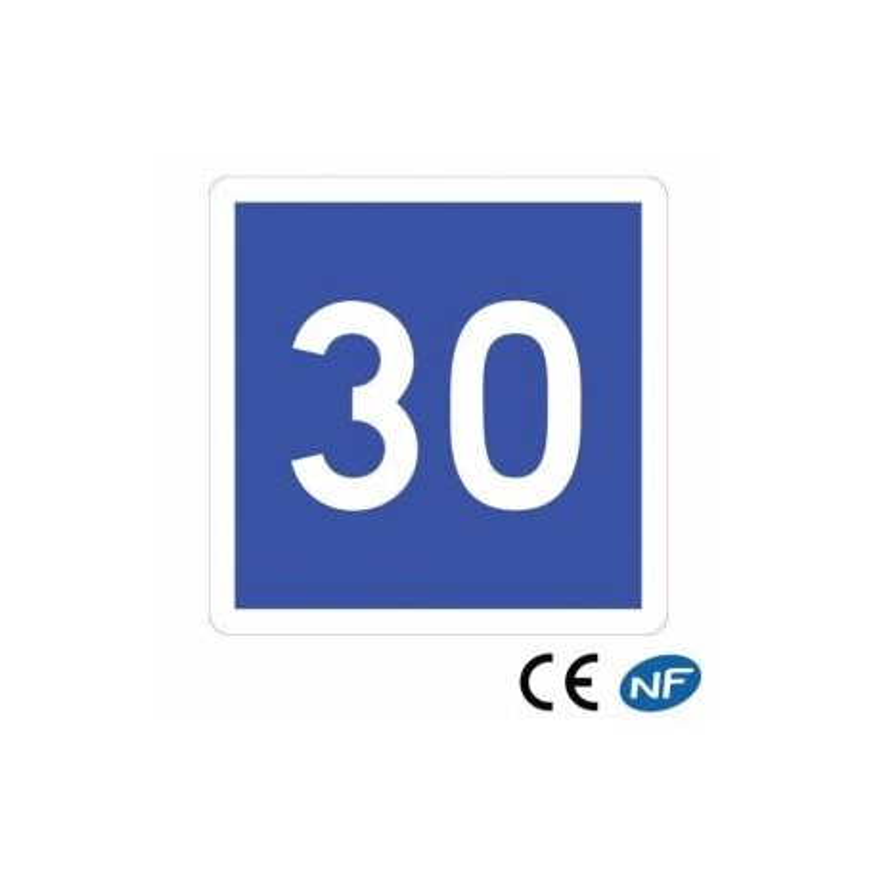 Panneau routier signalant une vitesse conseillée C4a