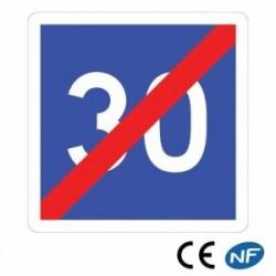 Panneau de signalisation indiquant une fin de vitesse conseillée (C4b)