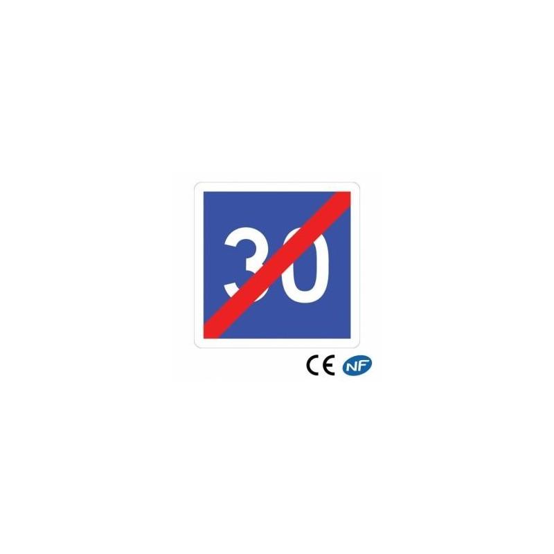 Panneau de circulation indiquant un fin de vitesse conseillée