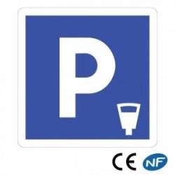 Panneau de signalisation indiquant unstationnement payant - C1c
