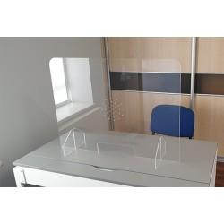 Plaque de protection en plexiglass pour accueil de public