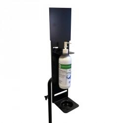 Trépied en acier pour distribution de gel hydroalcoolique bouteille type Push