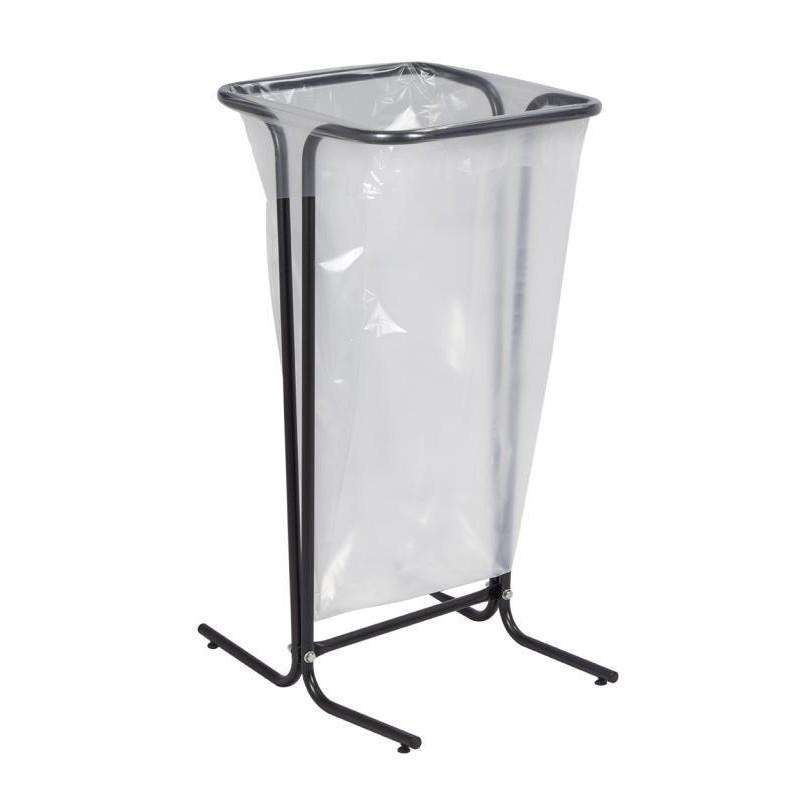 Support sac poubelle 110 L noir