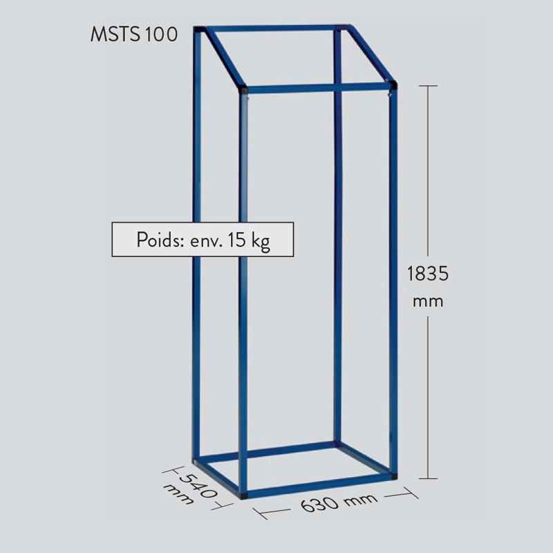 Support sans roues sac grande contenance 1 m3