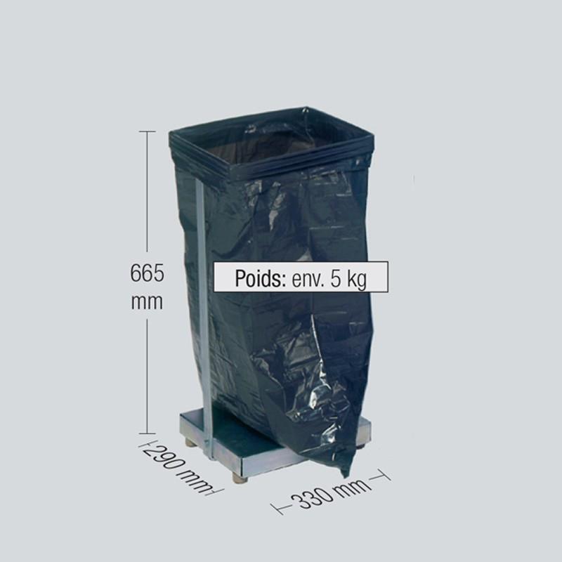 Support en acier pour sac poubelle de 60 ou 70 litres