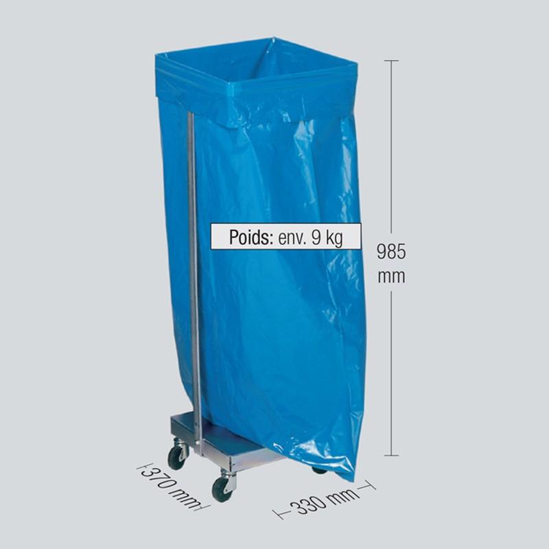 Structure en T pour sac poubelle de 110 litres ou 120 litres litres
