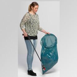 Support sac poubelle format ciseaux - Inox 120 Litres