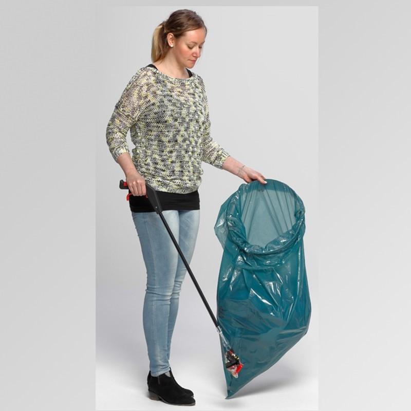 Support sac poubelle format ciseaux avec pédale - Inox 120 Litres