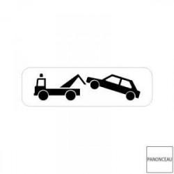 Petit panneau de mise en fourrière pour stationnement gênant ou interdit M6a