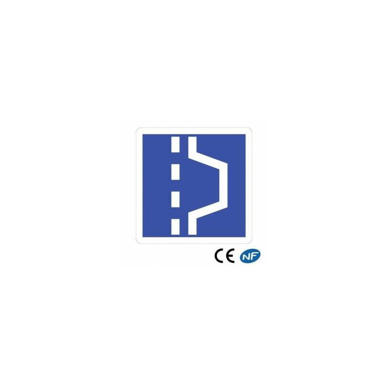 Panneau routier indiquant un emplacement d'arrêt d'urgence en 3 formats