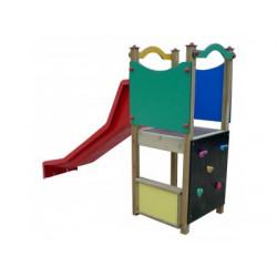 Toboggan et mur d'escalade petit module de jeux pour enfants de 2 à 6 ans