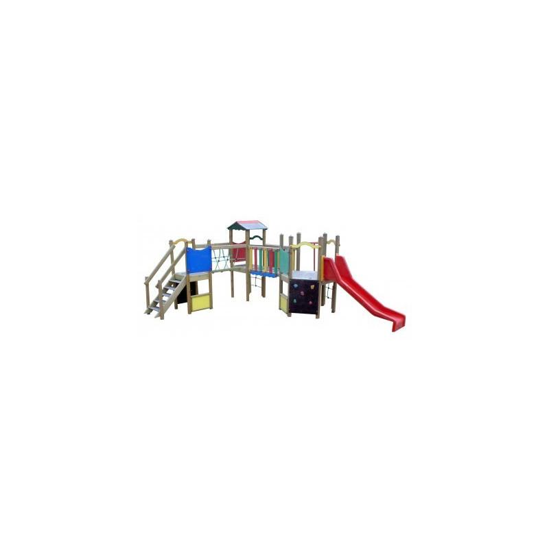 Structure multijeux pour enfants de 2-6ans. écoles, parc de jeux