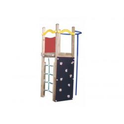 Tour des pompiers jeux en bois et mur d'escalade pour enfants de 3 à 8 ans