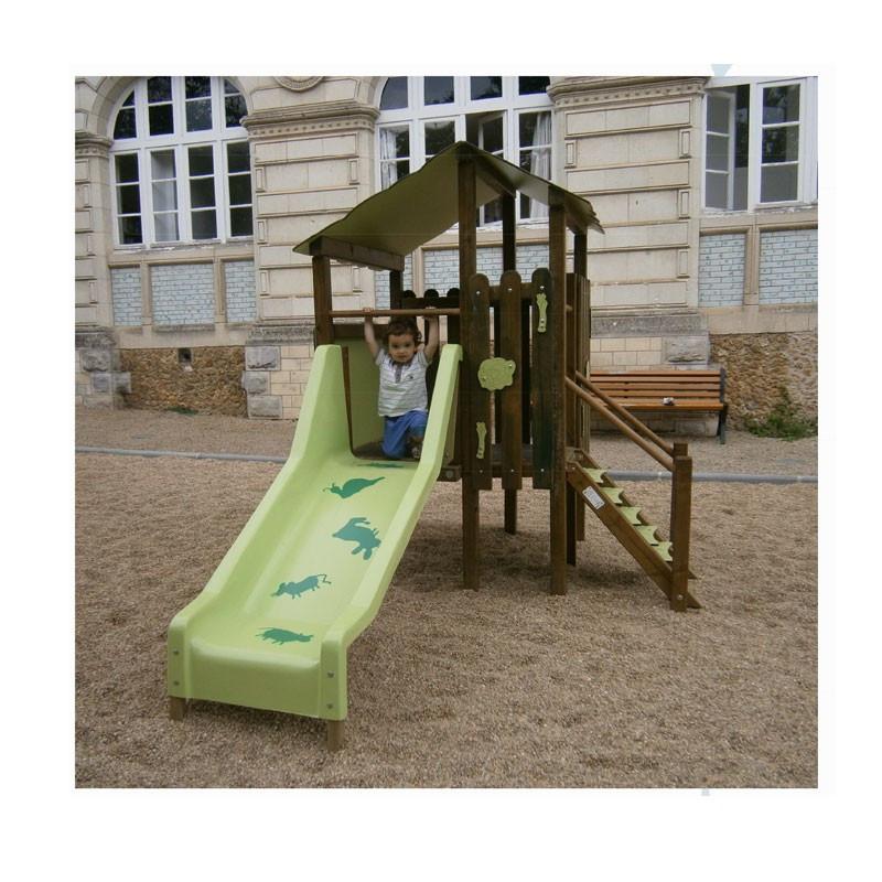 Structure toboggan et cabane pour les petits de 1 à 4 ans