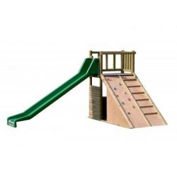 Structure jeux la maison du bucheron avec grand toboggan 5 à 12 ans
