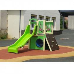 Structure jeux et toboggan en aluminium PITCHOUNETTE pour les 2 à 7 ans