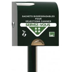 Boitier de distribution de sachets papier biodégradable pour hygiène canine