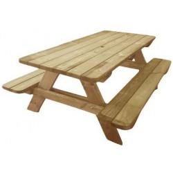 Table de pique-nique en bois massif Provence