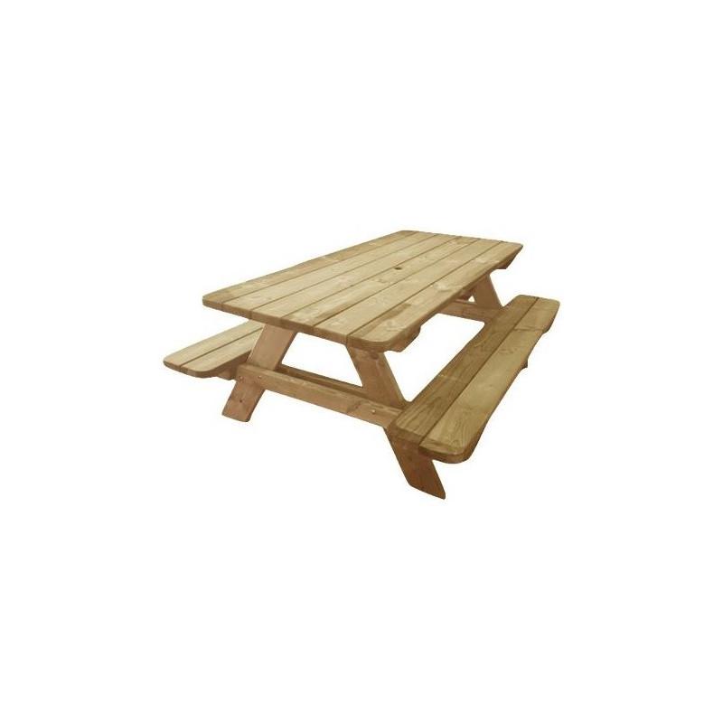 Table de pique-nique angles arrondis Provence - DMC Direct