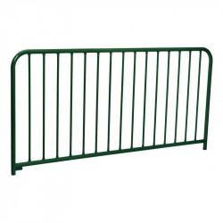 Barrière en acier peint sur galva (15 barreaux)