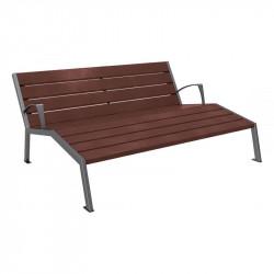 Chaise longue Silaos - Acier et plastique recyclé