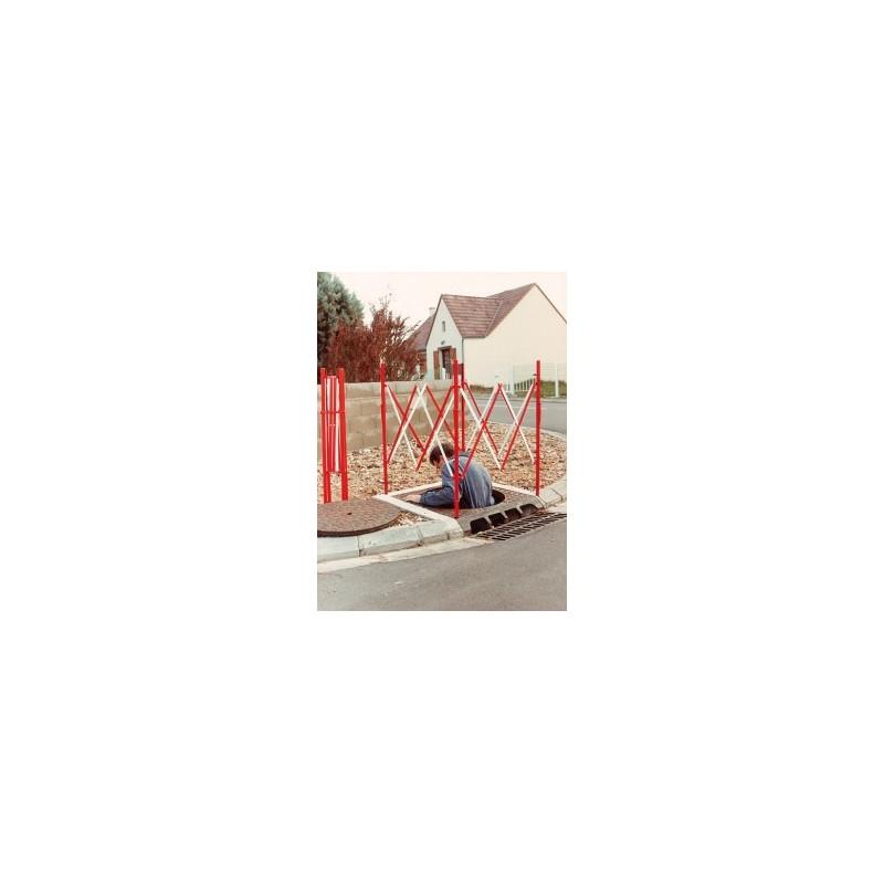 Visuel de la barrière extensible de protection pour chantier et TP