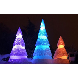 Sapin de Noël en polyéthylène lumineux - 250 cm