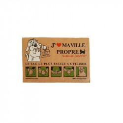 Carton de 720 sacs en papier biodégradable pour déjections canines