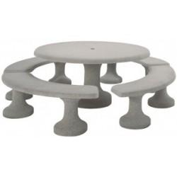 Visuel de la table de pique-nique en béton ronde