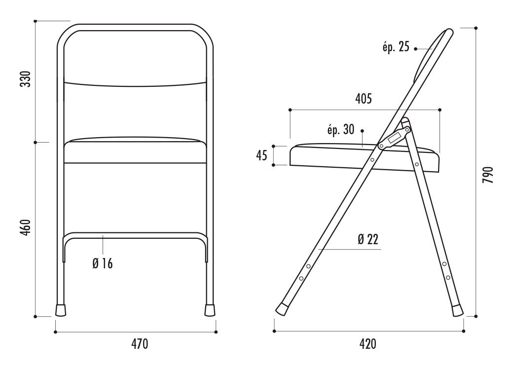 chaise pliante palerme en tissu pour collectivités dmc direct