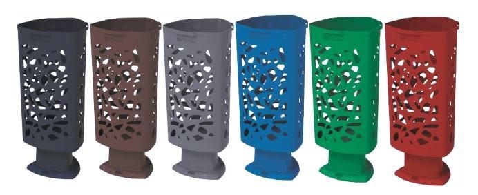 coloris de la corbeille urbaine en plastique -DMC Direct