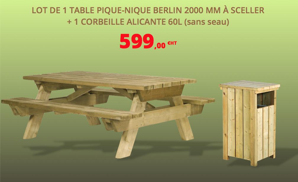 table de pique-nique en bois en promotion dmc direct