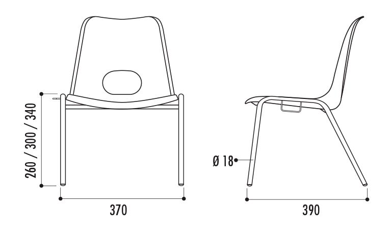 dimensions de la chaise empilable pour enfants dmc direct