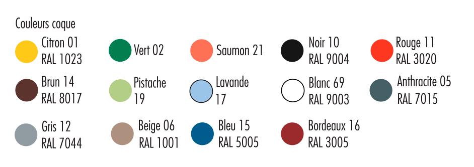 coloris de la chaise empilable hélène - dmc direct