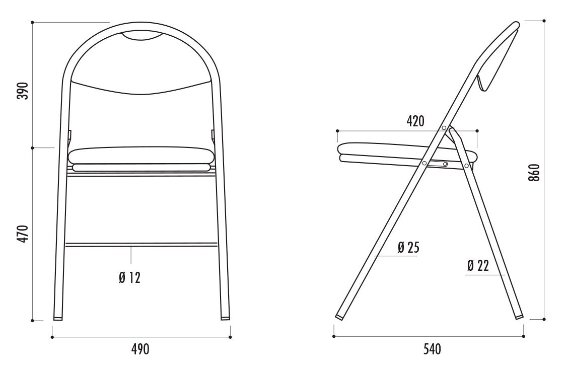 dimensions de la chaise pliante florence dmc direct