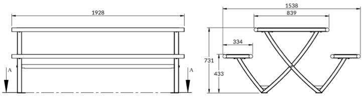 TABLE DE PICNIC EXTÉRIEUR DMC DIRECT