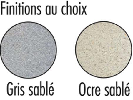 Coloris disponible pour banc en béton