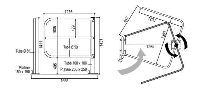dimensions de la barrière sélective pmr dmc direct