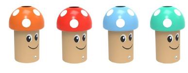 Modèles disponibles de la corbeille champignon ludique école - DMC Direct