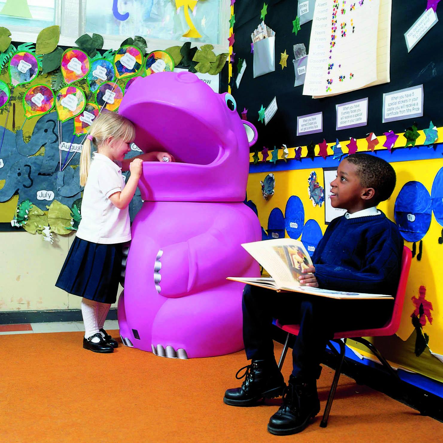 corbeille à déchets pour école maternelle - dmc direct