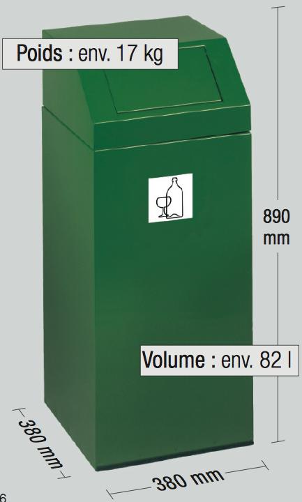 poubelle de tri sélectif dmc direct